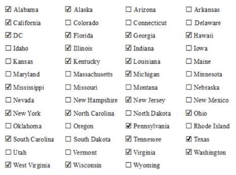 US States Checklist